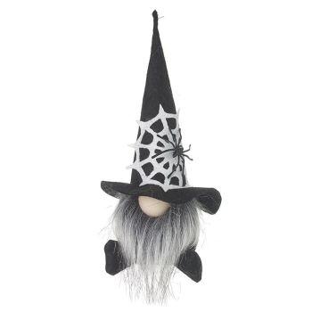 Gonk in Black Spider Web Hat