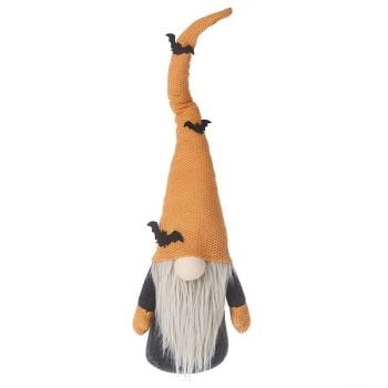 Tall Gonk In Orange Hat with Black Bats