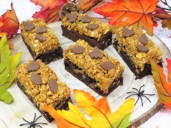Caramel Cornflake Autumnal Leaf Brownie - Box of 8