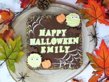 Happy Halloween Brownie Slab