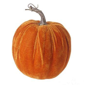 Medium Velvet Pumpkin Ornament