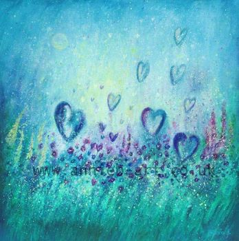 love each moment as the flowers love the sunshine original painting