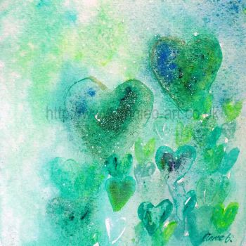 'from the heart I' original painting