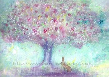 The hare and the magical tree print
