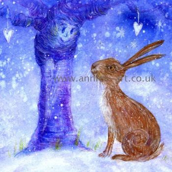Hare and the wise old apple tree print