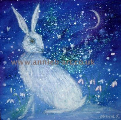 winter hare and the moon