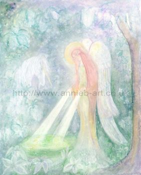 Angel and Unicorn at Chalice Well