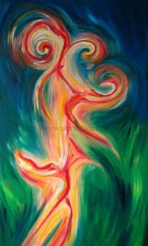 dancing fire spirits