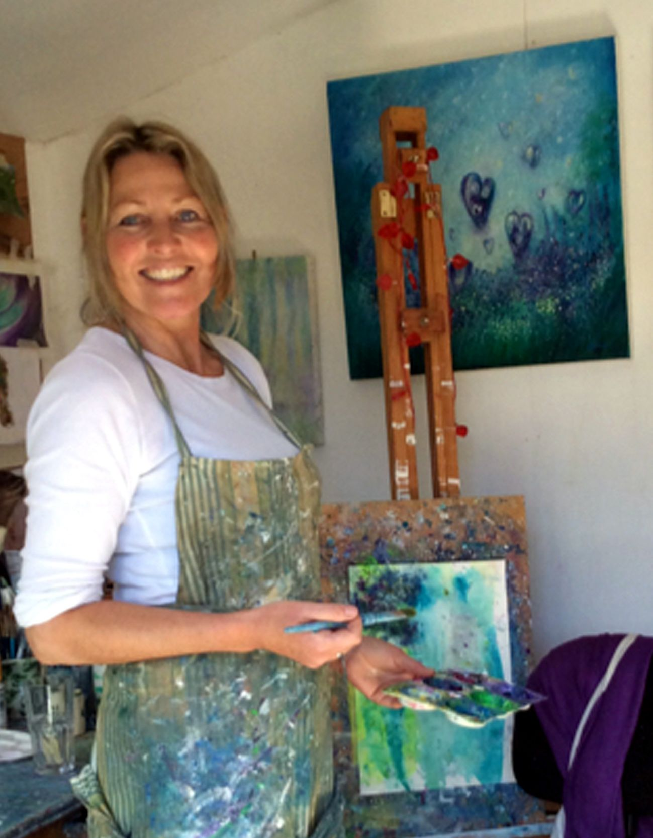 Art Painting workshops with annie b
