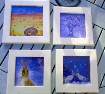 Framed hand finished cards