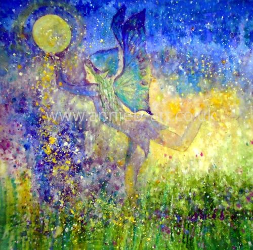 Joyful Nature Spirit original painting