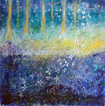 magical bluebell woods dance - original painting