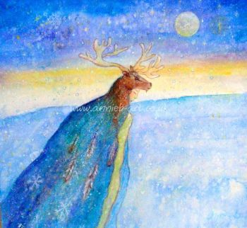 Elk Spirit Goddess original painting