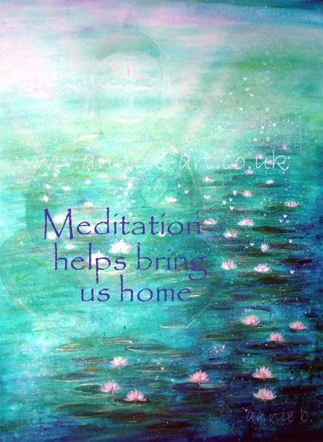 Meditation helps bring us home