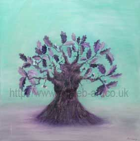 oak tree painting