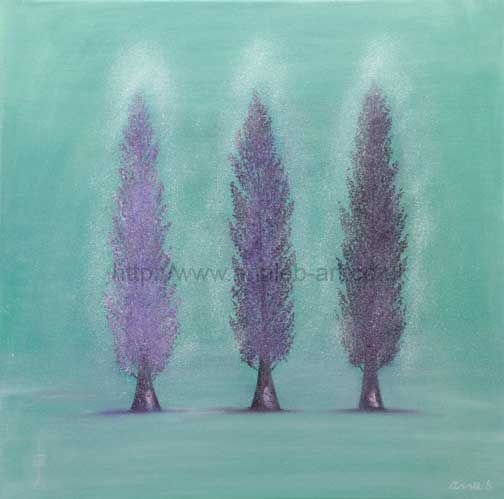 poplars tree painting