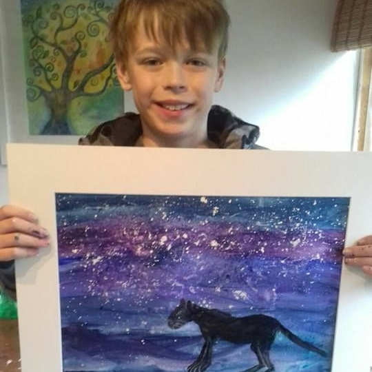 Kids-Connect to your Spirit Animal painting workshop