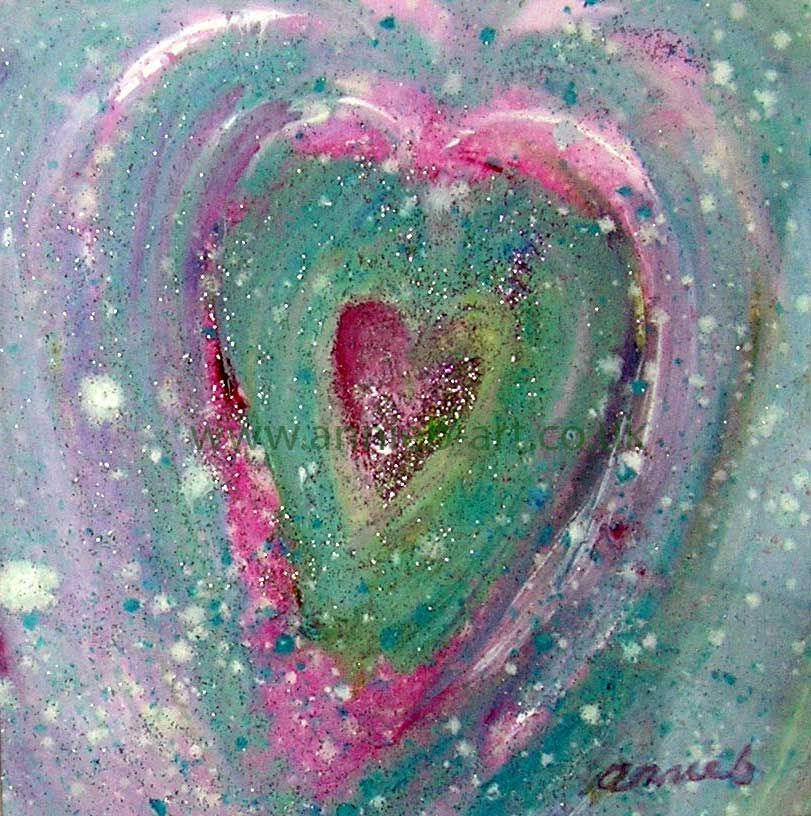 gorgeous heart painting filled with love