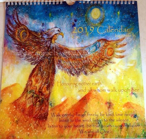 annie b. 2019 Calendar Honouring the earth and all whom walk upon her