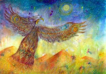 'dancing with eagle spirit' original  painting