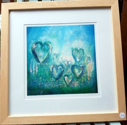 Feel the love in each moment FRAMED print
