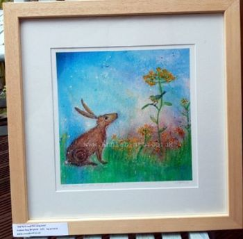 Hare and the song bird  FRAMED print