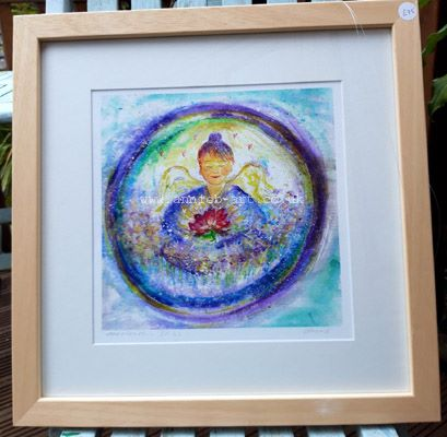 meditation bliss FRAMED  print