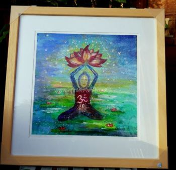 Opening the heart to the universe medittion LARGE FRAMED  print