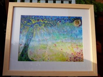 Goddess Ostara - LARGE FRAMED print