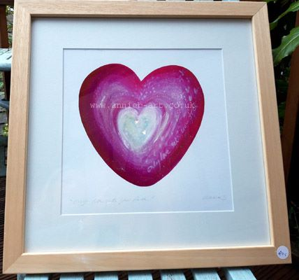 Only love sets you free framed giclee fine art print by annie b. art