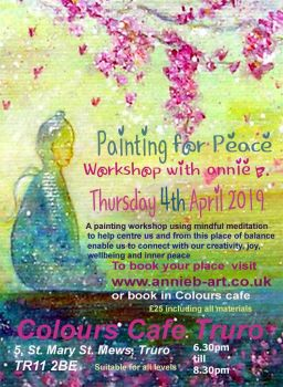 Painting for Peace group painting workshop with meditation