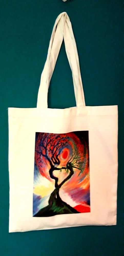 Art Tote bag Dancing tree spirits