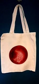 Art Tote bag Carried on the wings of love
