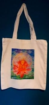 Art Tote bag Happy Buddha design