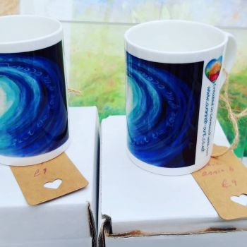 Wave china mugs