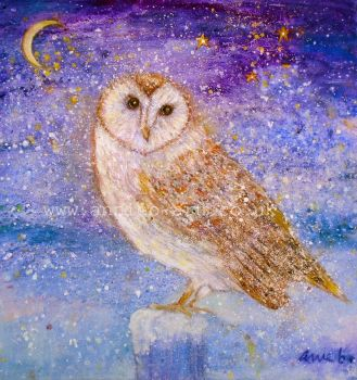 Owl of wisdom original painting