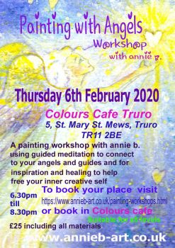 Colours Cafe Painting with Angels group workshop FEBRUARY