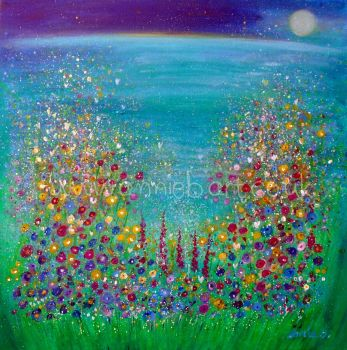 'Cornish wild flower magic' original painting