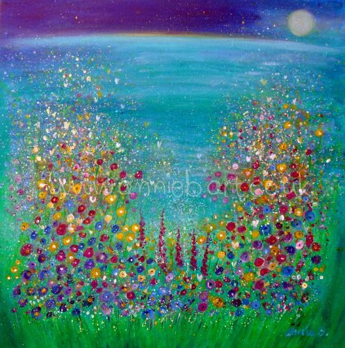 'Cornwall wild flower magic' original painting