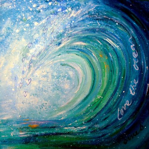 'love the ocean' original painting