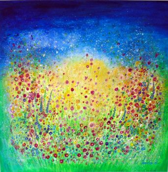 Wild flower garden of joy print