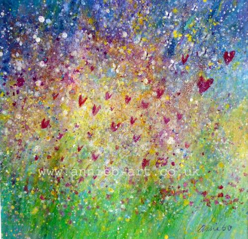 'May your heart be filled with joy, as the flowers fill the meadow' print