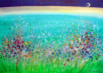 'May your heart be free like the turquoise sea ' original painting