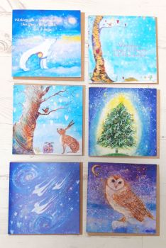 Mixed pack of x 6 Christmas cards