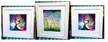 THREE FRAMED PRINTS OF YOUR CHOICE
