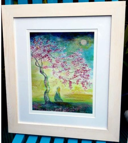 Just be in this moment.. and this moment....  FRAMED  print