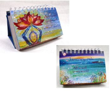 Two Calendar Deal-  Art from the Heart Daily Inspirations 365 day Timeless mindful Calendars