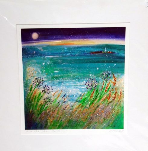 'With love from Gwithian' mounted print