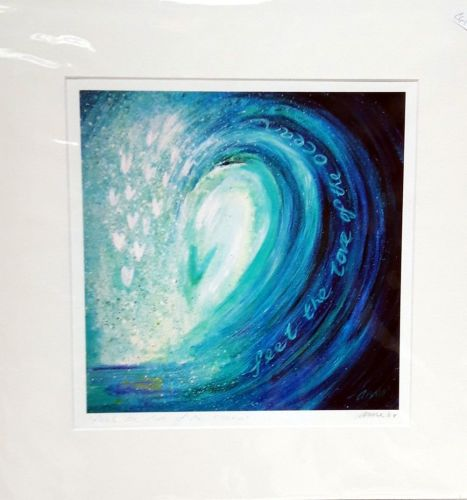 'feel the love of the ocean' mounted print