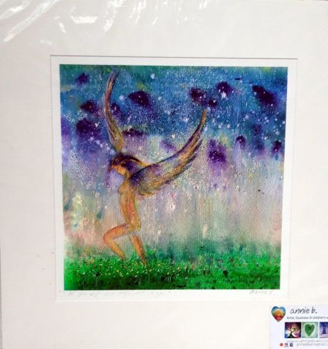 'be yourself all ways all days'  mounted print